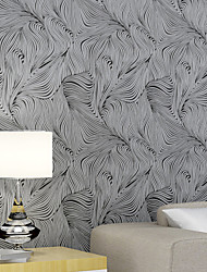Contemporary Wallpaper Art Deco 3D Abstract Curve Wallpaper Wall Covering Non-woven Fabric Wall Art