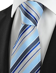 Striped JACQUARD Mens Necktie Party Holiday Gift