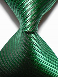 New Striped Green JACQUARD WOVEN Men's Tie Necktie TIE2053