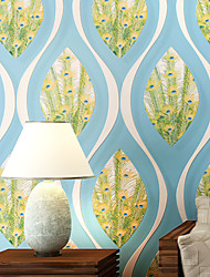 Contemporary Wallpaper Art Deco 3D Feather Wallpaper Wall Covering Non-woven Fabric Wall Art