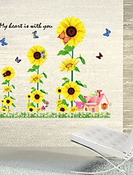 Sunflowers Wall Stickers 3D Sticker Wallpaper Poster Removable Wall Decals/Home Decor