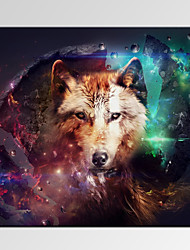 VISUAL STAR®Abstract Wolf Digital Canvas Prints Modern Room Decor Art Print Ready to Hang