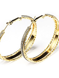 European Style Gold/Silver Circle Earrings Jewelry for Women