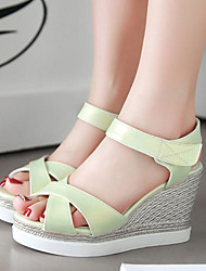 Women's Shoes Wedges Heels /Platform/Sling back/Open Toe Sandals Dress Black/Pink/White/Dark Green/Light Green