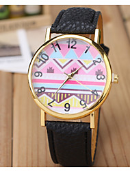 Women's Fashion Watch The New Wave Pattern Note Belt Quartz Watch
