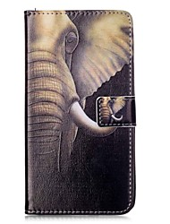 Elegant Pattern Design PU Leather Case with Card Slot and Stand for LG LS770/LG G STYLUS