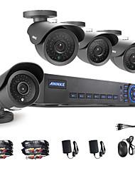 annke® 4ch ahd-960H l DVR ecloud hdmi 4pcs de sortie 1080p / VGA / BNC 900tvl cmos 42leds jour / nuit caméras IR-cut IP66