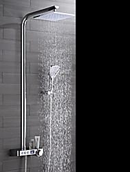 Torneira de Chuveiro-Chuveiro Tipo Chuva / Chuveiro de Mão Incluído-Latão(Cromado) - ESTILOContemporâneo