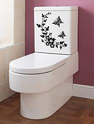 adesivos de parede parede estilo decalques de flores borboleta em pvc videira adesivos de parede