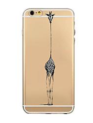 animais e pássaros padrão TPU transparente macio escudo do telefone caso de volta caso cobertura para iphone6 mais / 6s mais