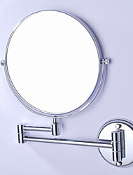360 Degree Rotating 2X Magnifying Antique Brass Plating Finished 8-inch Solid Stainless Steel Wall Mount Cosmetic Mirror