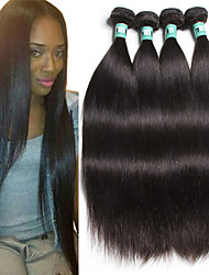 "4 Pcs/Lot 8""-30""Peruvian Virgin Hair Straight Human Hair Extensions 100% Unprocessed Peruvian Remy Hair Weaves"
