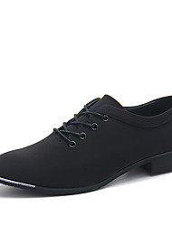 Men's Fashion Trend Dress Shoes for Wedding Party Man's Classic Canvas Upper Leather Shoes