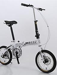 """14 """"mini dobrável Bicicleta de viajar apenas 12 kg em ônibus&metrô da cidade de bicicleta bicicleta plegable 6 cores"""