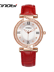 SINOBI® Women Watch Famous Brand Ladies Fashion Bracelet Quartz Watch Women Fashion Dress Quartz Wristwatches Cool Watches Unique Watches