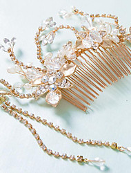 Bride's Flower Rhinestone  Forehead Wedding Hair Combs Accessories 1 Pieces