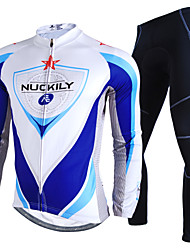 NUCKILY® Cycling Jersey with Tights Men's Long Sleeve Bike Waterproof / Thermal / Warm / Windproof / Rain-Proof / Reflective StripsJersey