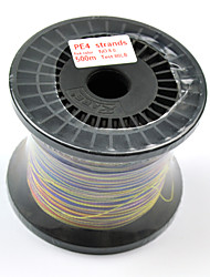 500M / 550 Yards PE geflochtene Leine / Dyneema Mehrfarbig 80LB 0.5 mm FürSeefischerei / Fliegenfischen / Köderwerfen / Spinning /