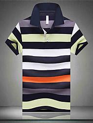 A man short sleeved T-shirt collar Polo Shirt Mens striped summer T-shirt Lapel half sleeve 2016 new summer