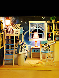 Diy Cabin Space Dream 3 D Assembly Model Toys Creative Gifts Lights Lamp LED