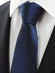 New White Dot Navy Dark Blue Classic Mens Tie Necktie Formal Wedding Gift KT0005