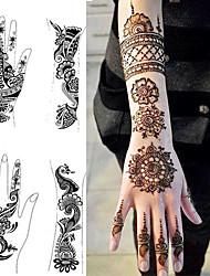 1pcs tatouage modèles stencils mains / pieds de tatouage au henné pour aérographe nouveau kit de peinture sur corps mehndi professionnel