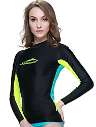 Women's Dive Skins Wetsuit Skin Ultraviolet Resistant Chinlon Diving Suit Long Sleeve Rash guard Diving Suits Tops-Swimming Diving Surfing