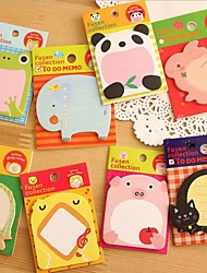 4 PCS Cartoon Animal Sticky Notes Creative Post Notepad Filofax Memo Pads Office Supplies School Stationery Scratch