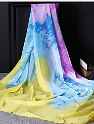 Female Spring And Autumn And Winter Scarves Ms. Gradient Large Square Silk Scarf