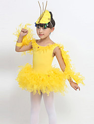 Performance Children's Cute Cotton / Spandex Cute Dresses Dance Costumes