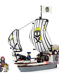 plastic piraten serie voor kinderen houten scheepsmodellen kits assemblage bakstenen voor kinderen educatief speelgoed