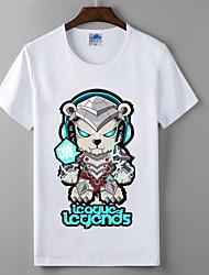 лол лига легенд коллекция серии косплей футболки герои союза хлопок лайкра