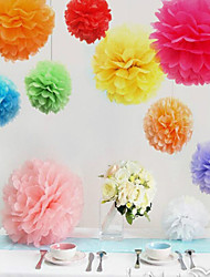 10inch 20cm Handmade pom poms Wedding Paper Flowers Ball Pom Poms For Wedding & Home Decoration,10pcs/lot(Random Color)