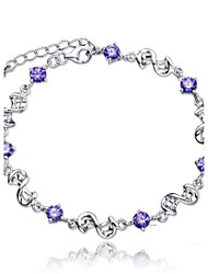 925 Sterling Silver Double Eight Bracelet