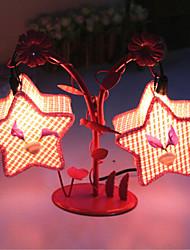 lampes d'éclairage de la lampe de chevet lampe de chambre créatives deux pentagramme de cadeau européen de la personnalité romantique