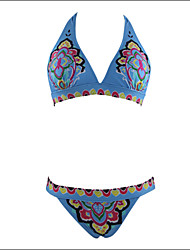 Shaperdiva Women's Floral Paisley swimwear Push Up Padded Bikini Top Bikini Set