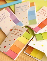 Cute rainbow colored sticky notes and memo pads N times Post it sticker Office material school supplies Random Color