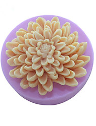 Chrysanthemum Flowers  Soap Mold  Fondant Cake Chocolate Silicone Mold,Decoration Tools Bakeware