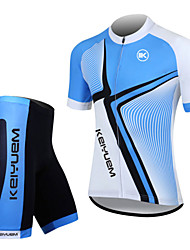 KEIYUEM® Cycling Jersey with Shorts Unisex Short Sleeve BikeWaterproof / Breathable / Quick Dry / Windproof / Insulated / Rain-Proof /