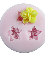 Three Holes Flower Silicone Mold Fondant Molds Sugar Craft Tools Resin flowers Mould Molds For Cakes