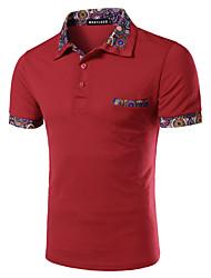 男性用 半袖 ポロシャツ,コットン オフィス プレイン
