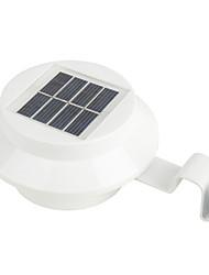 hry® 3LEDs de controle de luz quente / frio cor branca lâmpada de luz solar ao ar livre jardim quintal lâmpada cerca da parede parede da