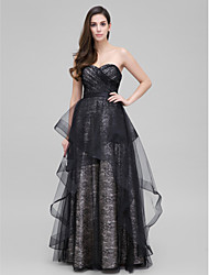 TS Couture® Formal Evening Dress A-line Sweetheart Floor-length Lace with Lace / Criss Cross