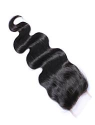 cheveux mekywell 4 * 4 fermeture partie libre cheveux vierges brazilian