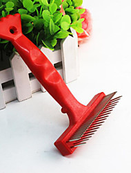 Grooming Comb Pet Grooming Supplies Portable Red Stainless Steel