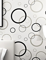 PALUTON Art Deco Wallpaper Contemporary Wall Covering,Non-woven Paper Personalized Modern Minimalist Fashion Circle