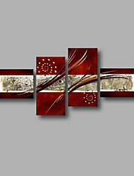 "Stretched (Ready to hang) Hand-Painted Oil Painting 68""x36"" Canvas Wall Art Modern Abstract Home Deco Dark Red"