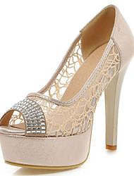 Women's Shoes Stiletto Heels/Peep Toe/Platform/Sandals Lace Wedding Shoes/Party & Evening/Dress Silver/Gold