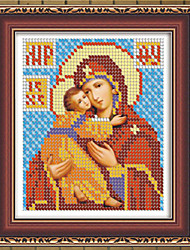 DIY 5D Diamond Embroidery Mosaic Russia Human Virgin and Child Round Rhinestones Painting Cross Stitch Kit