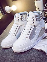 Scarpe Donna-Sneakers alla moda-Tempo libero / Formale / Casual-Comoda-Piatto-Finta pelle-Rosa / Bianco